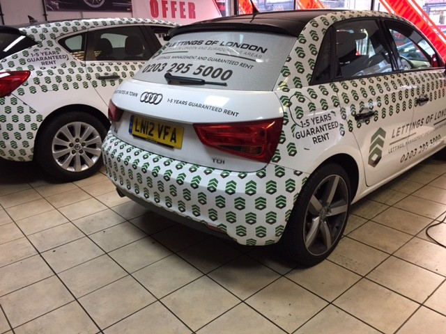 Lettings of London Car full Wrapping