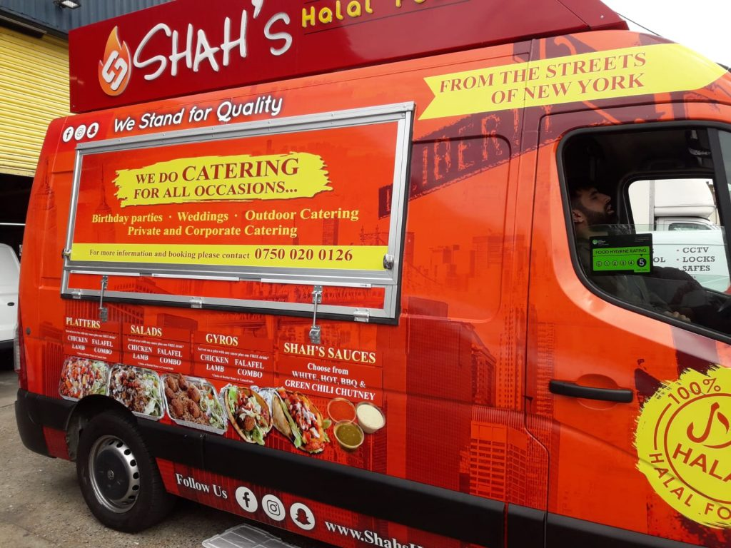 Shah's food Caravan with full wrapping