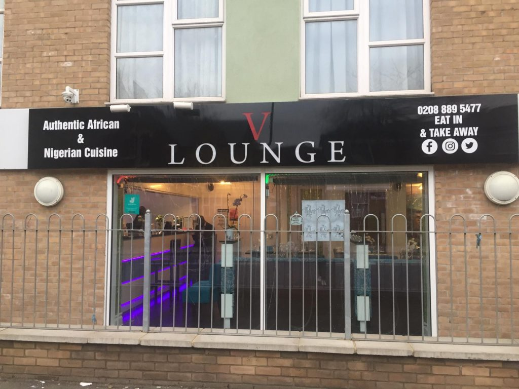 V Lounge Shop Sign