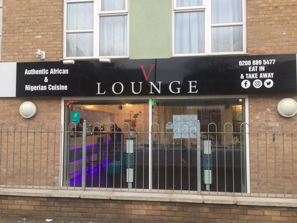 V Lounge Shop Sign