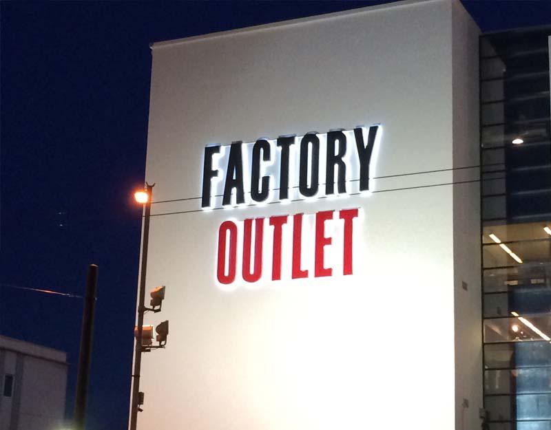 factory outlet 3d letters 2018