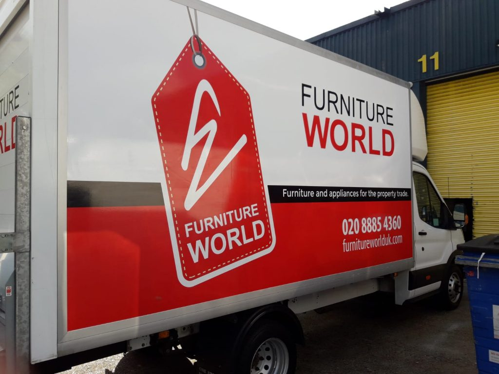 Furniture World Half luton Van wrapped