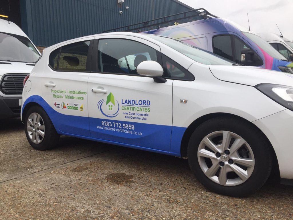 Landlord Certificate Vehicle Stickers for doors