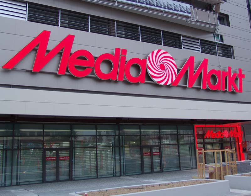 media mart big 3d logo sign