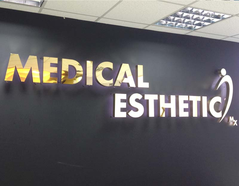 medical esthetic wall 3d sign