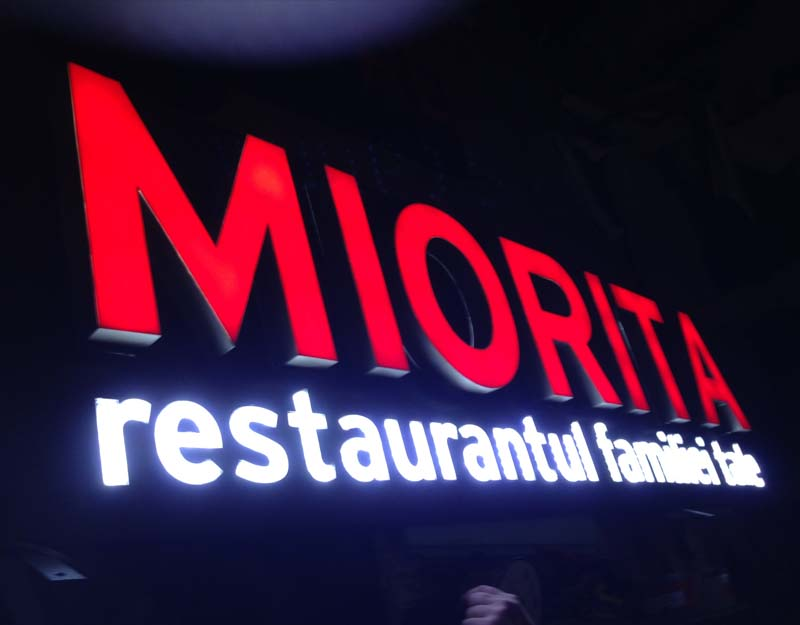 miorita illuminated signs london