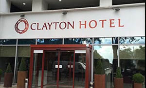 Clayton Hotel Entrance non illuminated signs