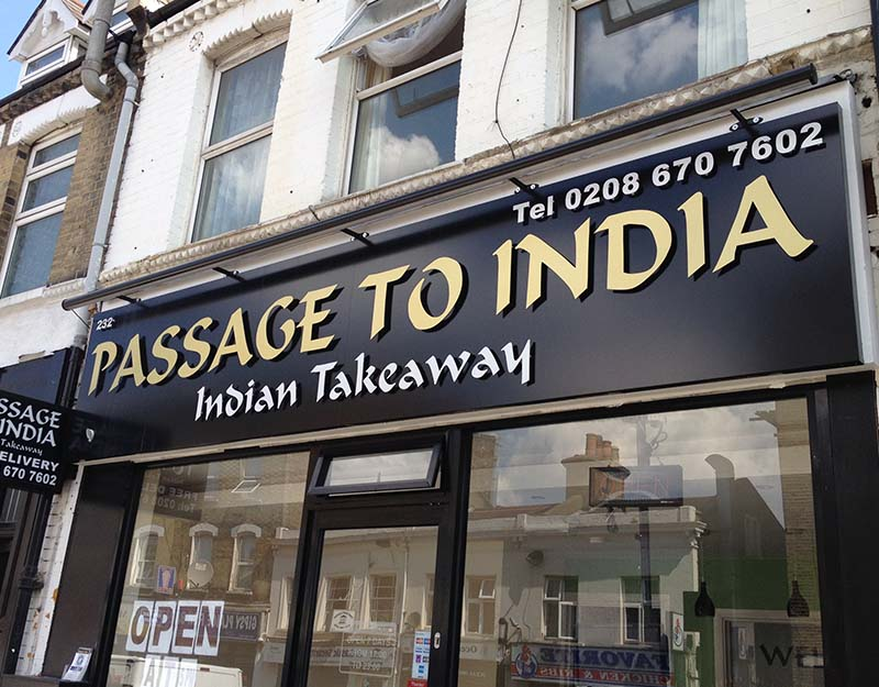 passage to india non illuminated sign