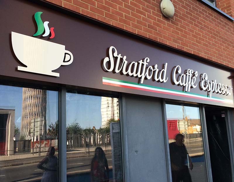 stratford coffee non illuminated sign