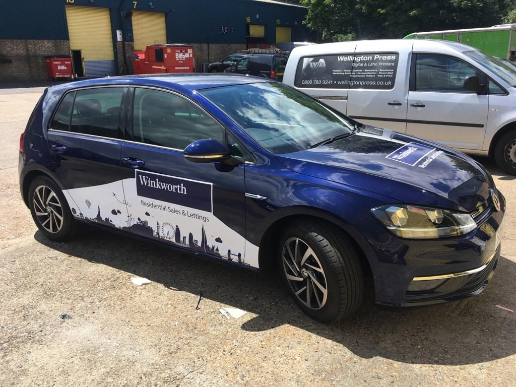 Winkworth sales and lettings - stickers for car doors