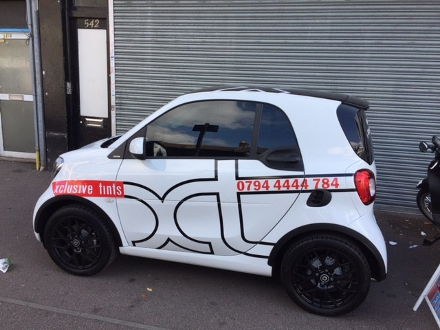 Xclusive Tints Vehicle Stickers for Smart Car