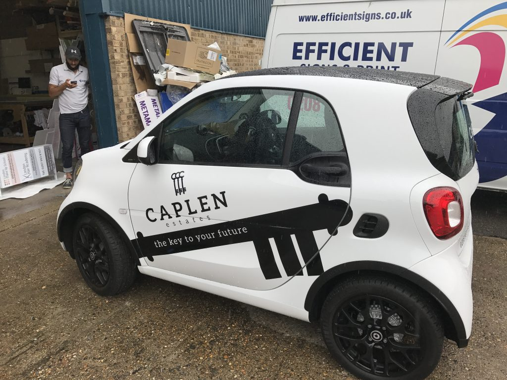 Caplen company Black Stickers on front doors