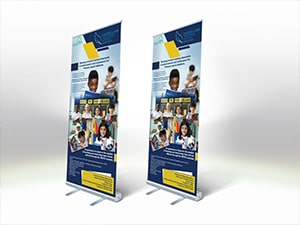 Roll up banner for Davies Lane