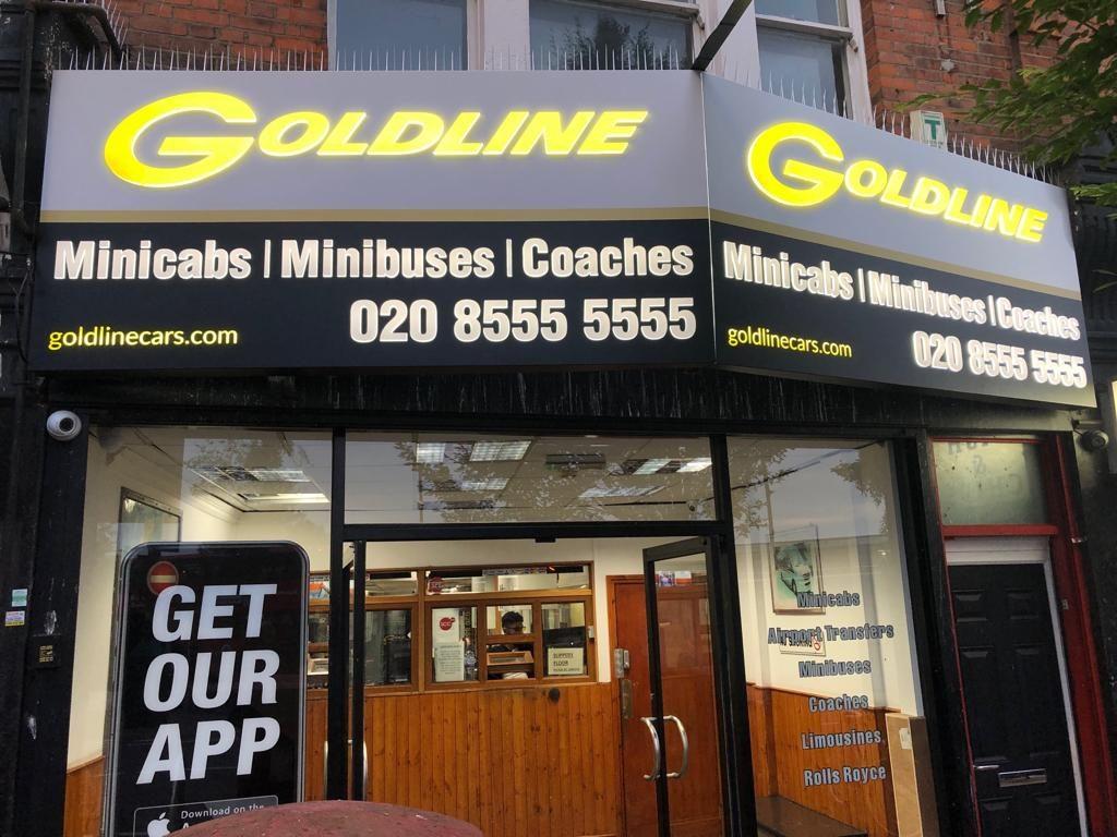 Shop Front Goldline Taxi Cab