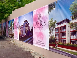 Appartments Wall PVC Banner - Big Banner 24hr Service