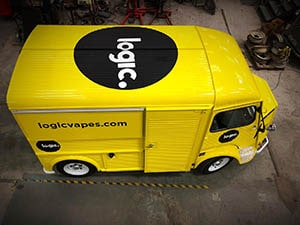 Yellow Retro Van sticker Vinyl - Logic Logo