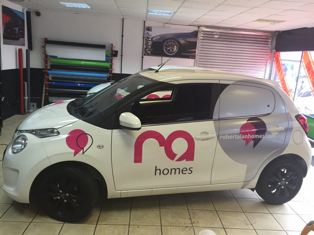 Ra Homes Wrapping with Stickers Vinyl in Leyton garage