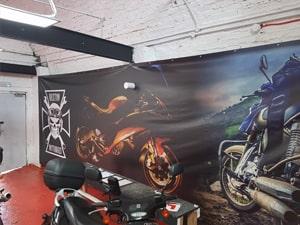 Inside Motorbike PVC Banner