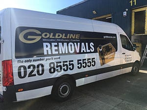 Goldline Removals with Gold Vinyl stickers for Mercedes