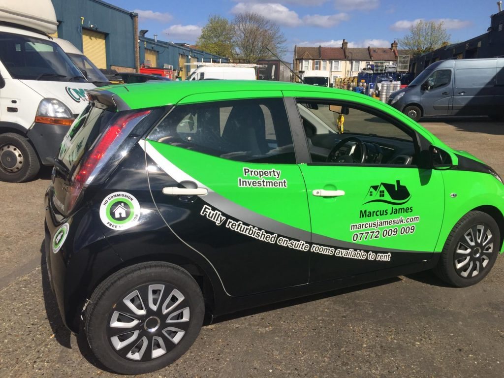 Marcus James Car Wrapping with black and green vinyl