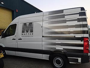 Matter Van Half Van Wrapping in Leyton Business Centre