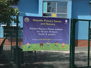 PVC Banner for Nursery in London