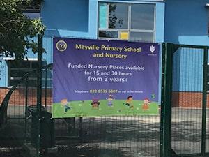 PVC Banner for Nursery in London