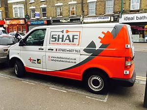 SHAF Electrical - Half Van Wrapping