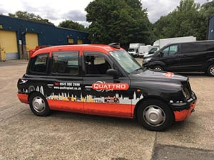 Red London Design for Taxi Wrapping London