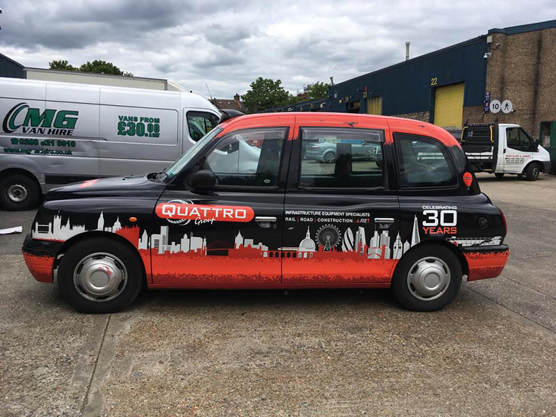 Side Red London Stickers for Taxi vehicle