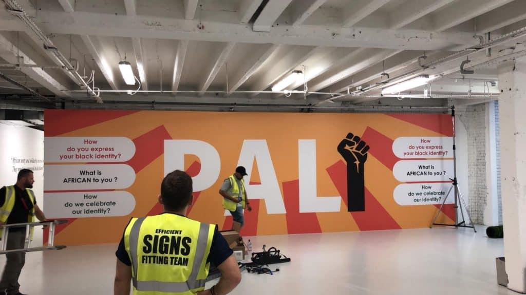 Efficient Signs Team on Installation