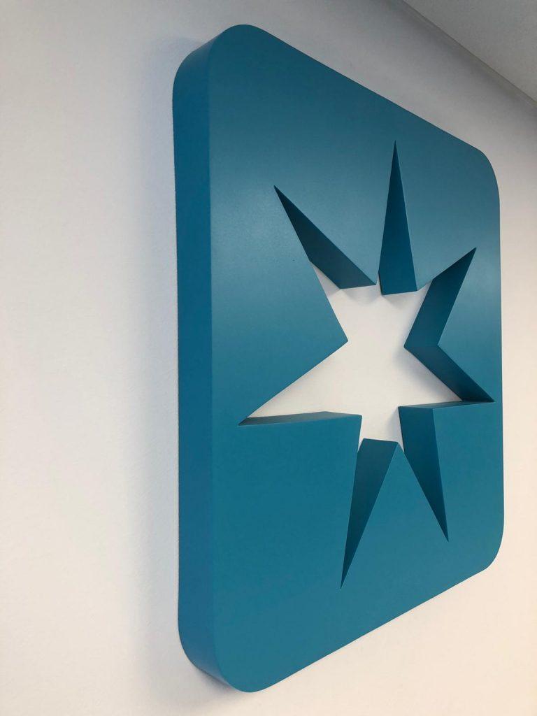 Maersk Logo Wall Blue