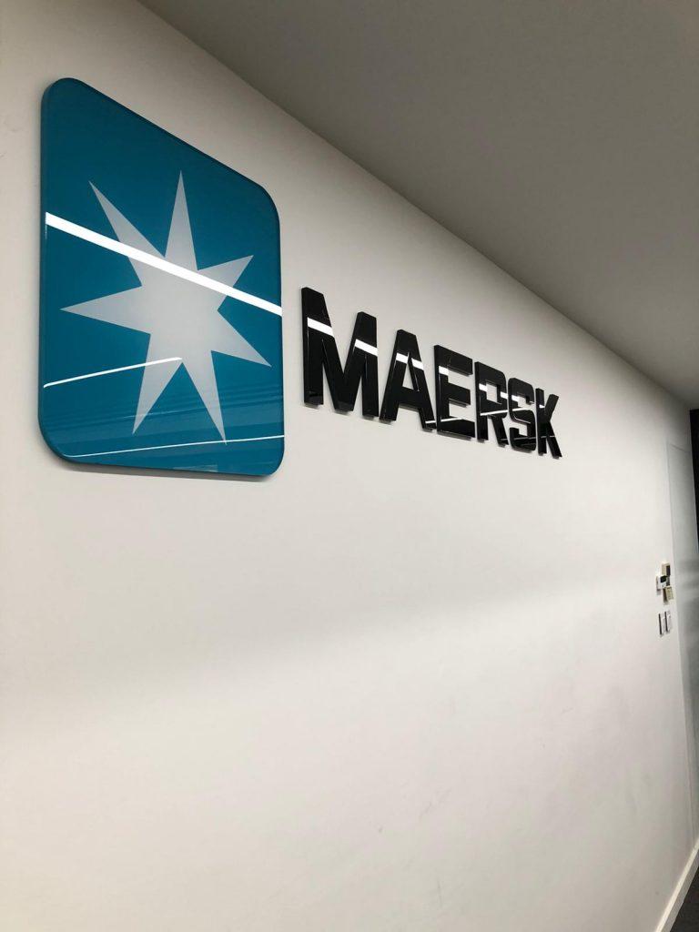 Maersk Logo Wall