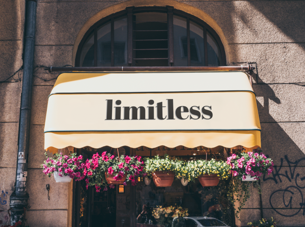 Limitless Logo printed on canopy