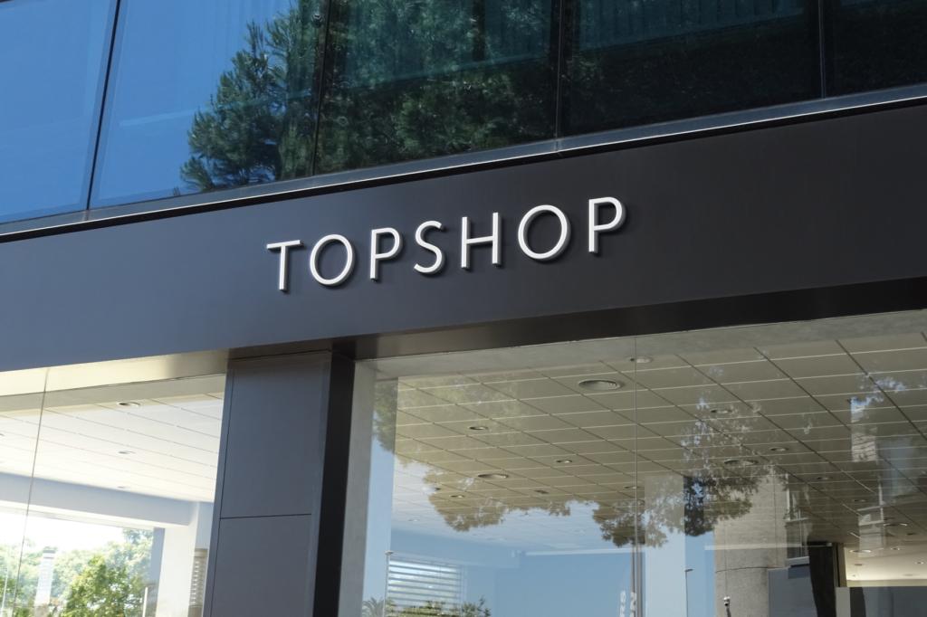 Top Shop Sign