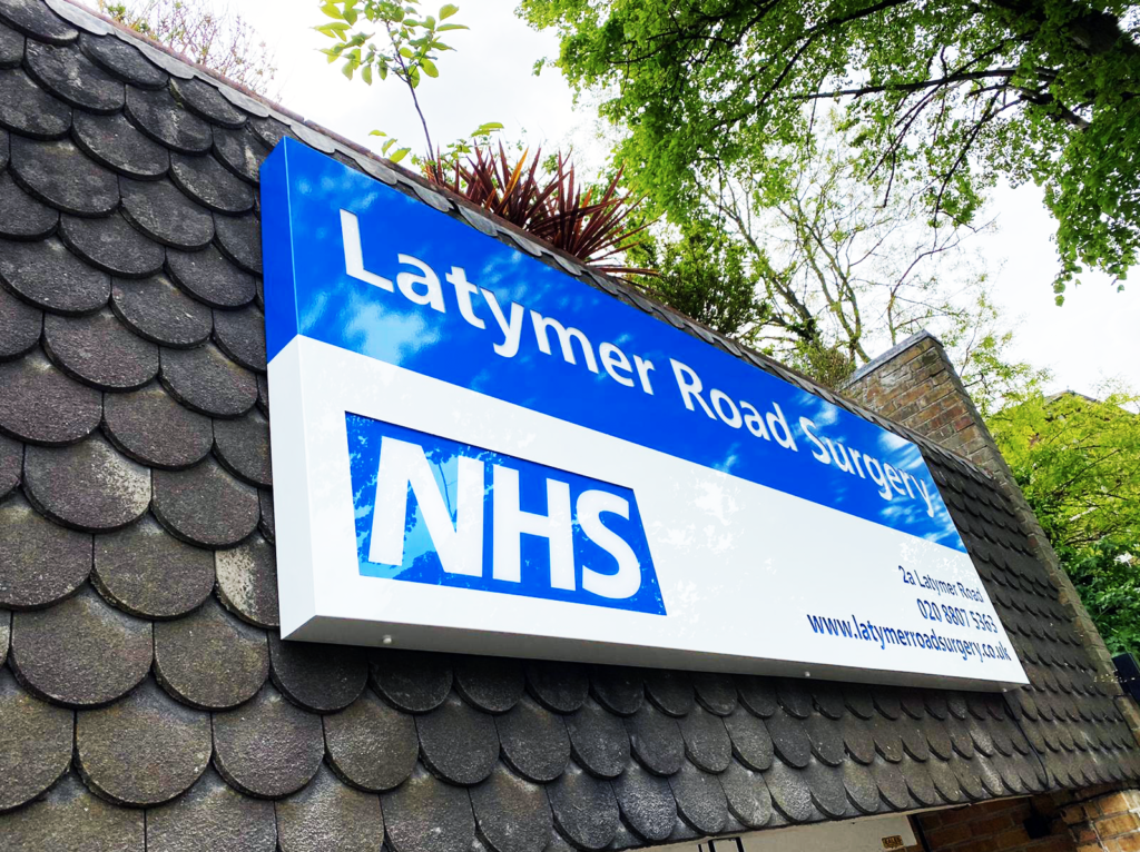 NHS Illuminaten Signs