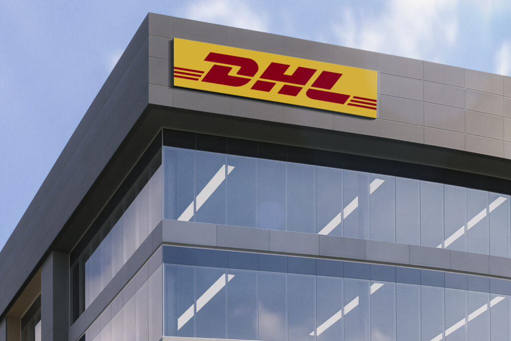 DHL Logo Building