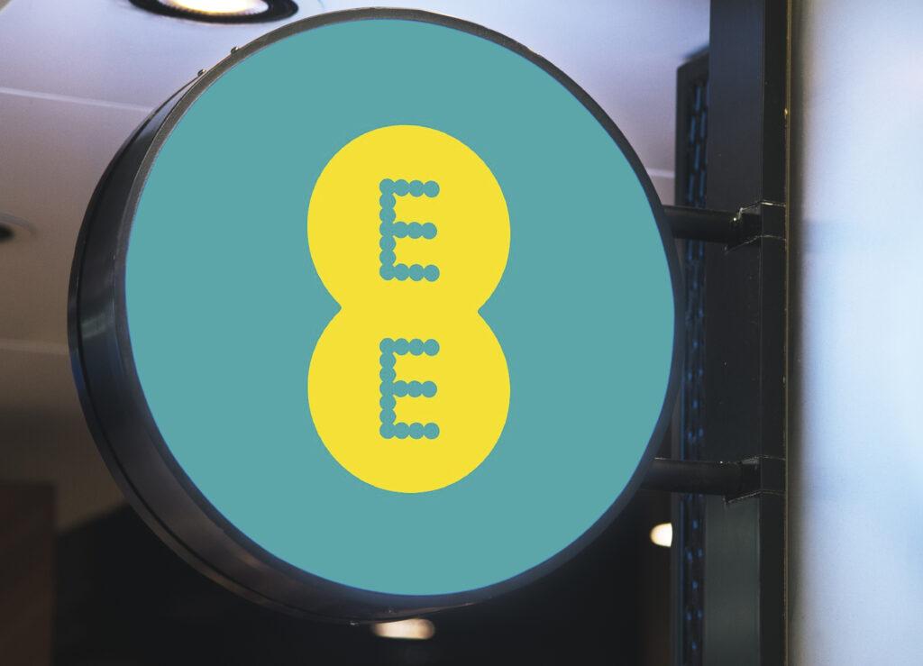 EE circular shop signboard
