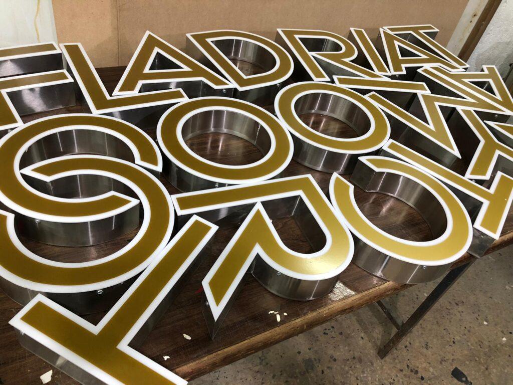 3D Built Up Letters