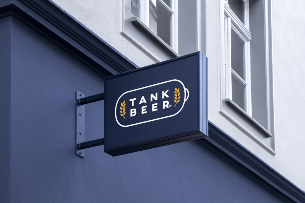 Tank Beer Projection Sign